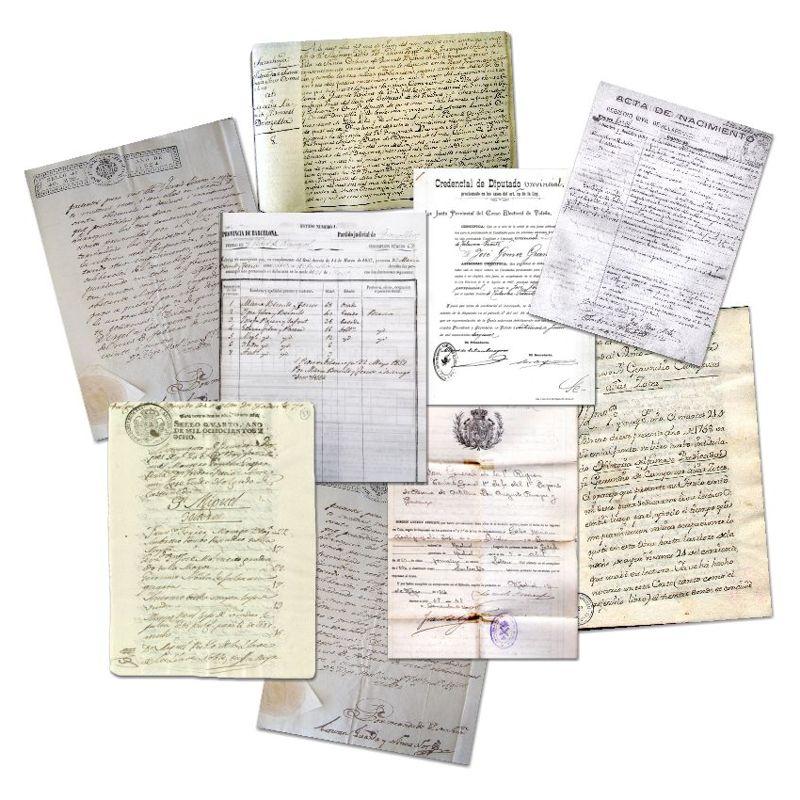 documentos y recuerdos familiares