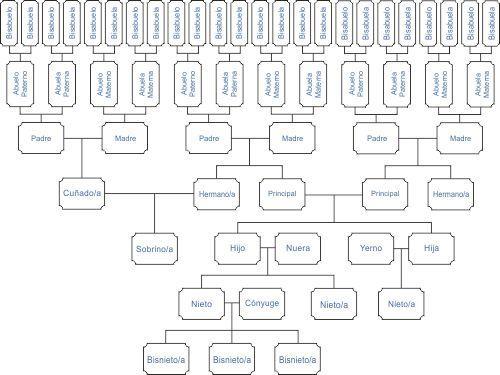 Árbol genealógico mixto lineal
