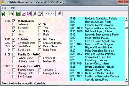 Conversor Gedcom - Gedxlate