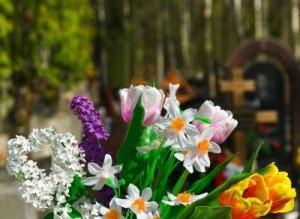 flores en el día de los antepasados