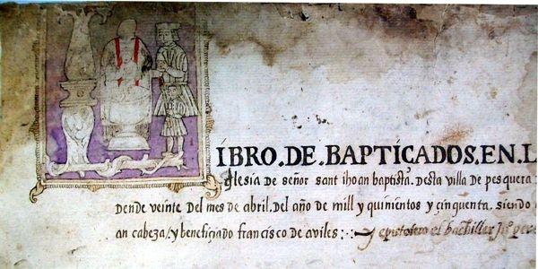Dibujos como este constituyen auténticas sorpresas en los libros parroquiales