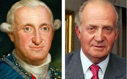 Carlos IV y Juan Carlos I
