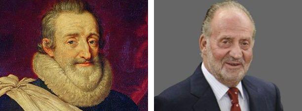 Enrique IV de Francia  y su parecido con  Juan Carlos I de España