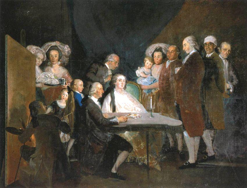 La familia del Infante don Luis de Borbón y Farnesio en Arenas de San Pedro