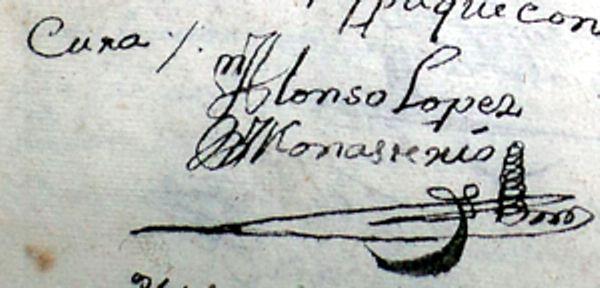 Los adornos en las firmas antiguas de los curas