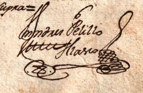 Firmas en los documentos antiguos