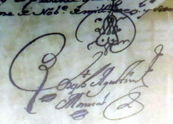Los adornos en las firmas de las partidas sacramentales antiguas