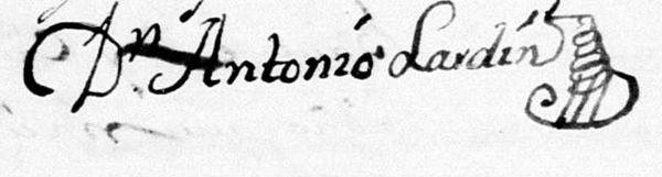 Dibujo en firma antigua