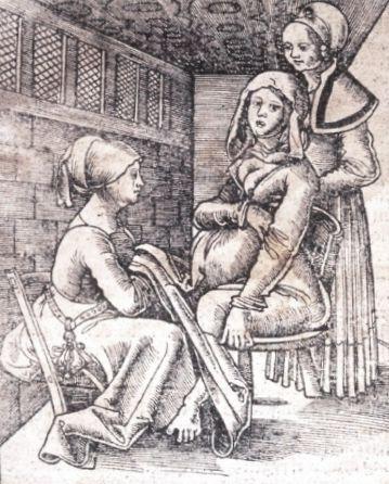 matrona en grabado antiguo