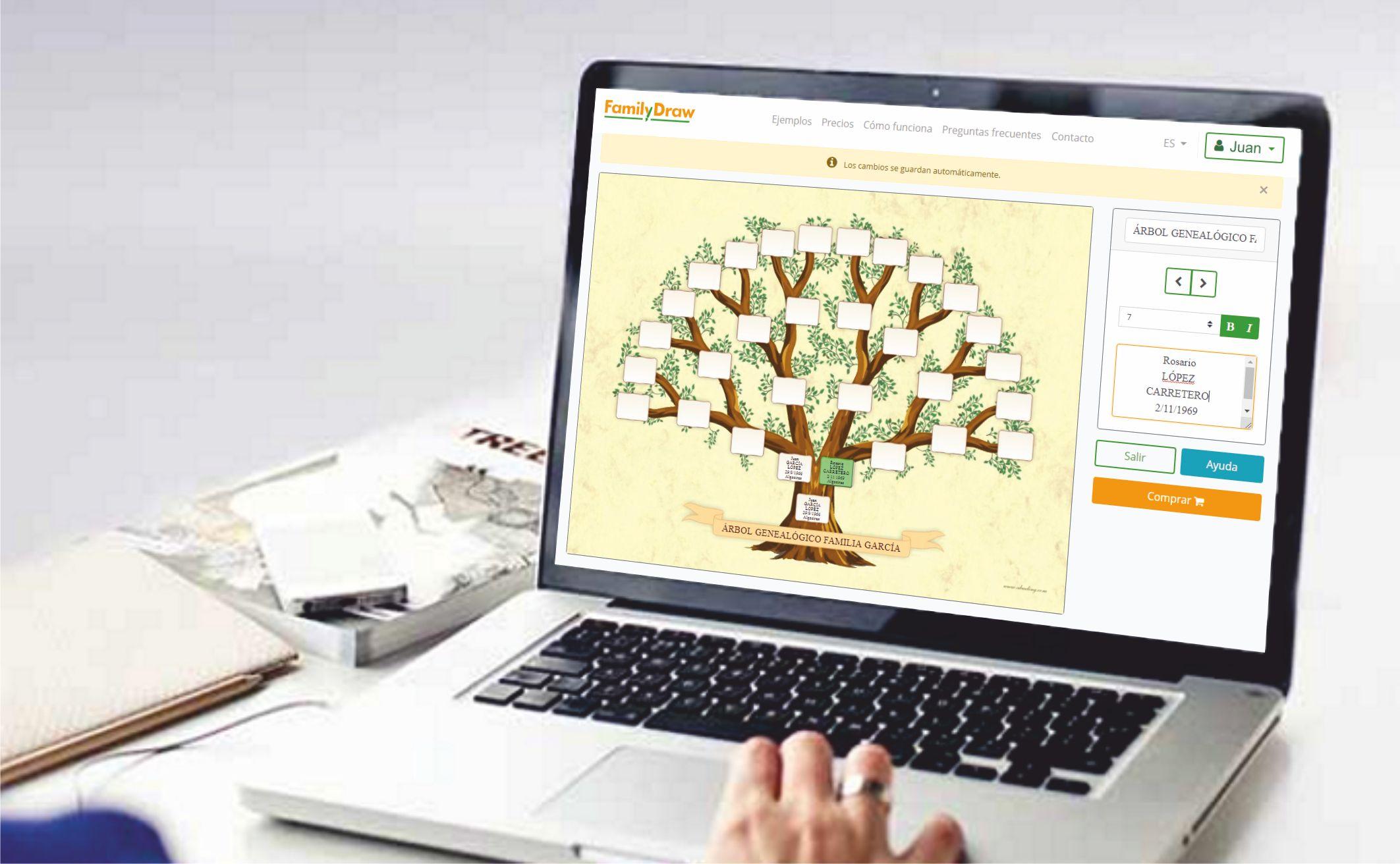 familydraw - impresión de árboles genealógicos