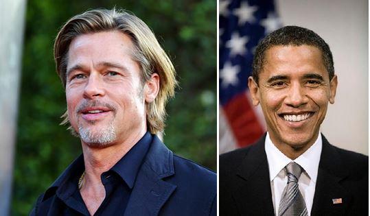 Brad Pitt es familiar de Barack Obama