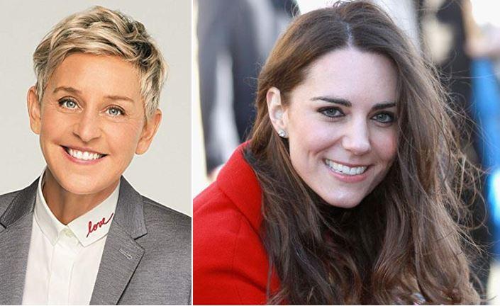 Ellen DeGeneres es prima lejana de Kate Middleton