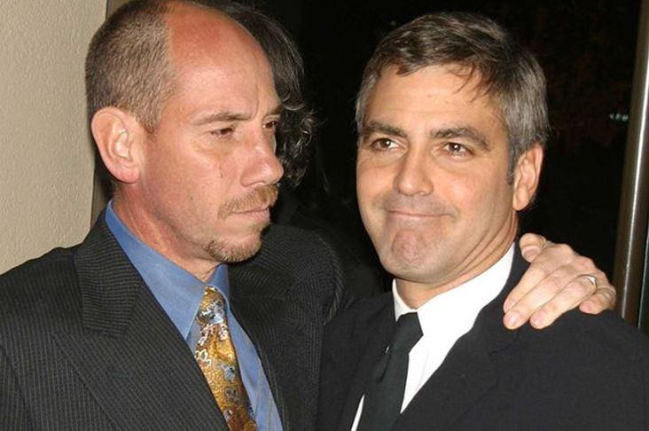 George Clooney y su primo hermano Miguel Ferrer