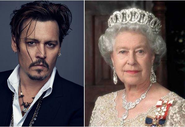 Johnny Deep y su parentesco con la Reina Isabel II