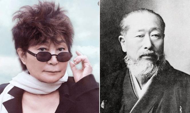 Zenjiro Yasuda y Yoko Ono