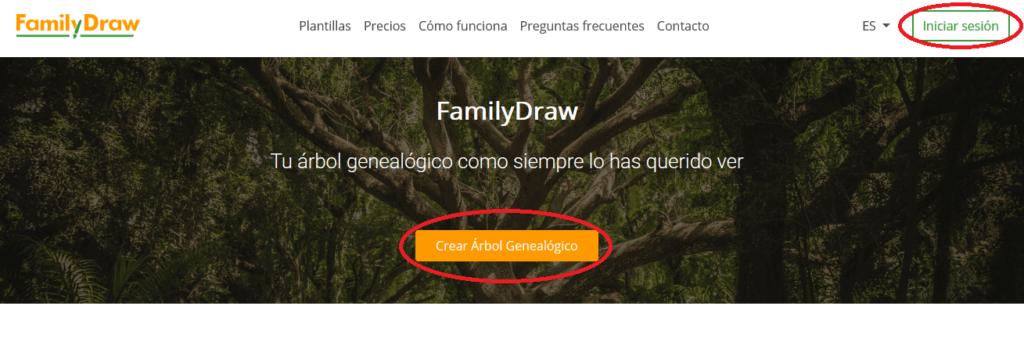 Iniciar sesión en FamilyDraw