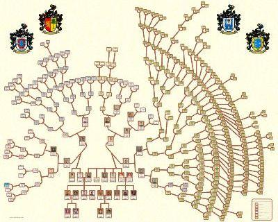Ancestors Family tree Circular shape design